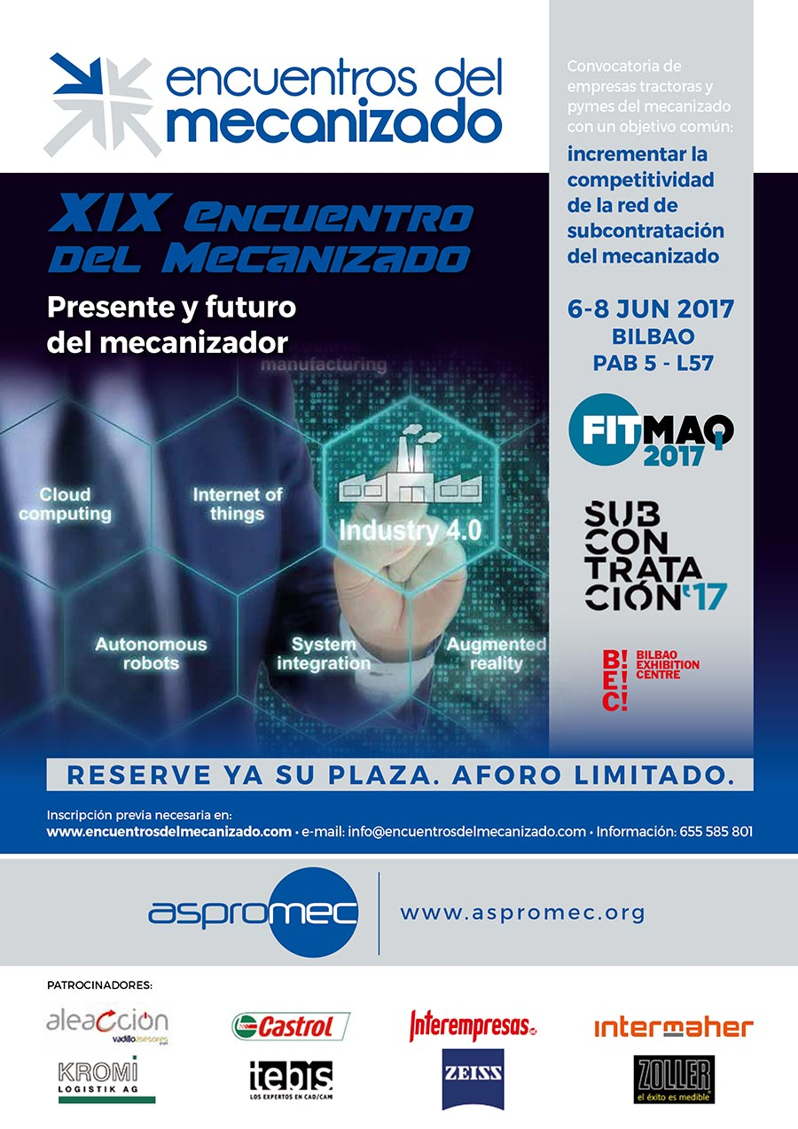 Vadillo Asesores hablará sobre la gestión de empresas de mecanizado en FITMAQ 2017