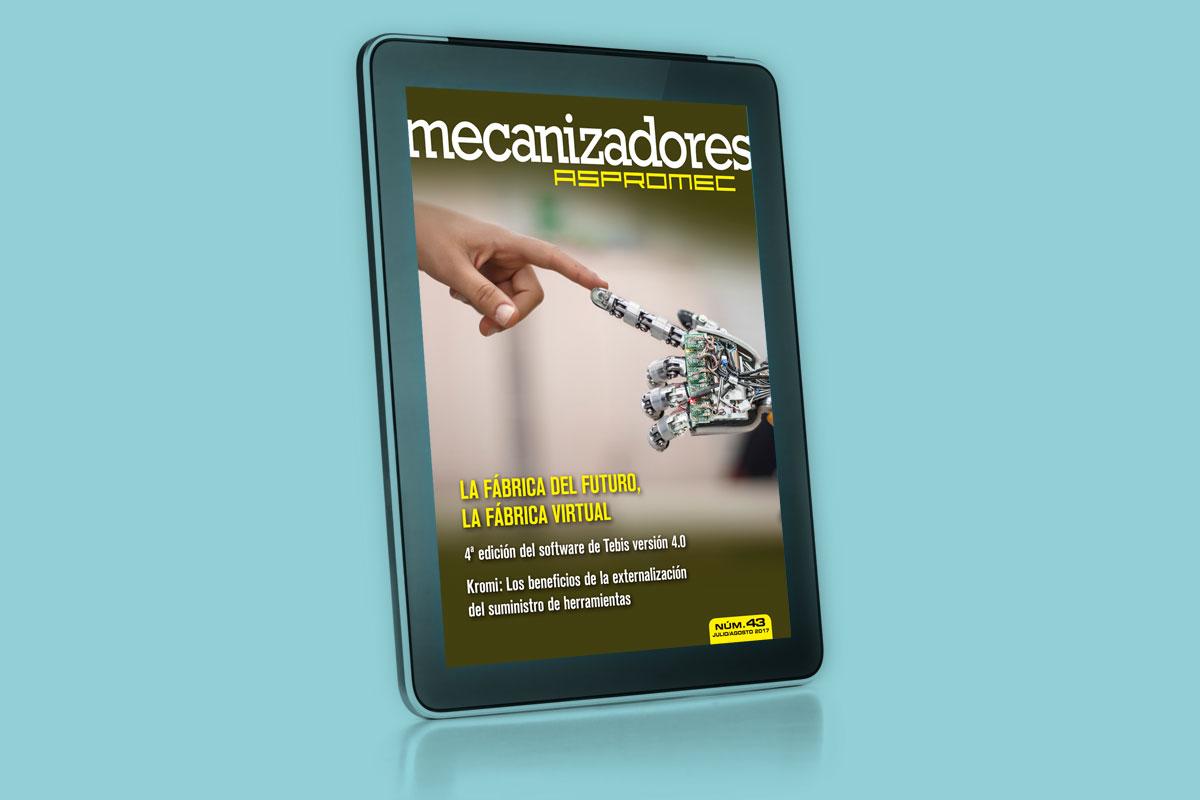 Ya está disponible el número 43 de la revista 'Mecanizadores', editada por Aspromec
