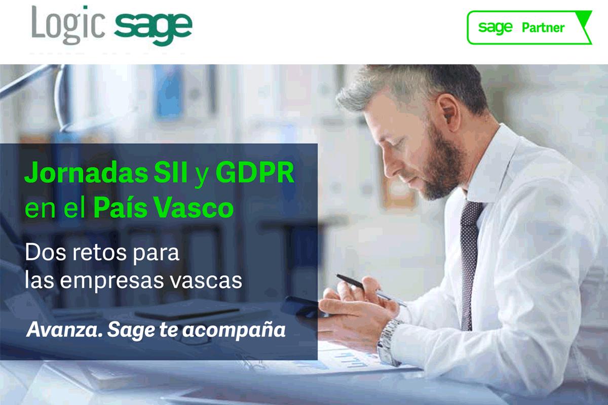 Participamos en las Jornadas SII y GDPR en el País Vasco, con Sage