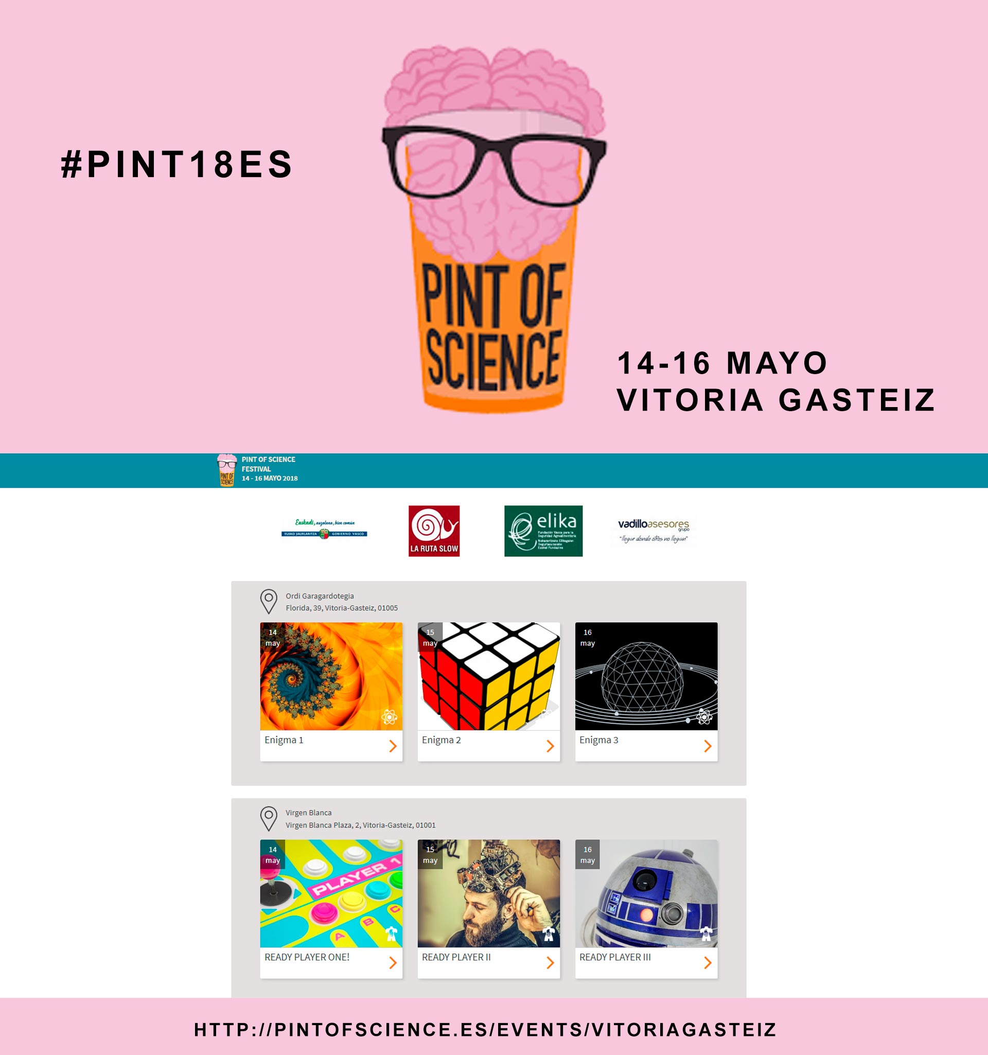 Patrocinamos Pint of Science Festival 2018 Vitoria Gasteiz