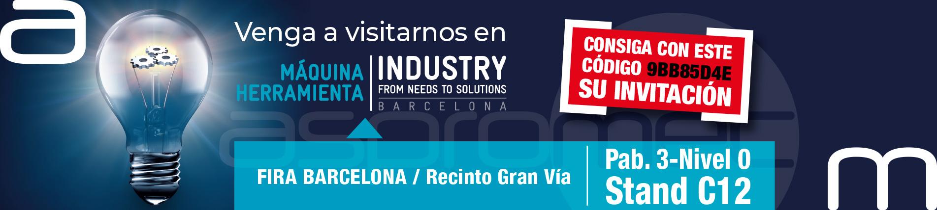 Vadillo Asesores, con Aspromec, en la Máquina-Herramienta Industry de Barcelona