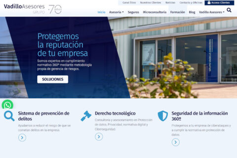 Nueva web de Vadillo Asesores