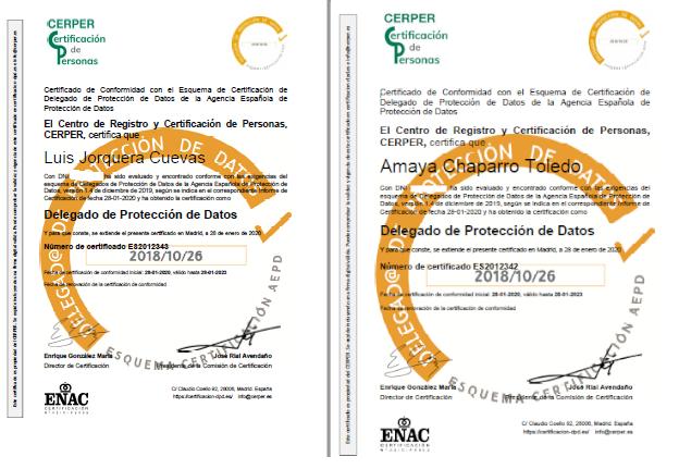 Delegados de protección de datos externos de Vadillo Asesores