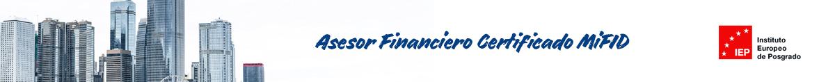 Asesor Financiero Certificado MiFID